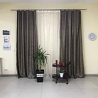 Готовые шторы из жаккарда с тюлью из органзы с утяжелителем с принтом звезды (для спальни, гостиной)