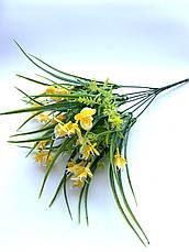 Искусственный пластиковый букет с мелкими орхидеями ( 32 см), фото 2