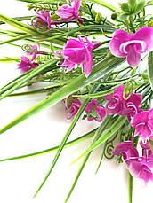 Искусственный пластиковый букет с мелкими орхидеями ( 32 см), фото 3