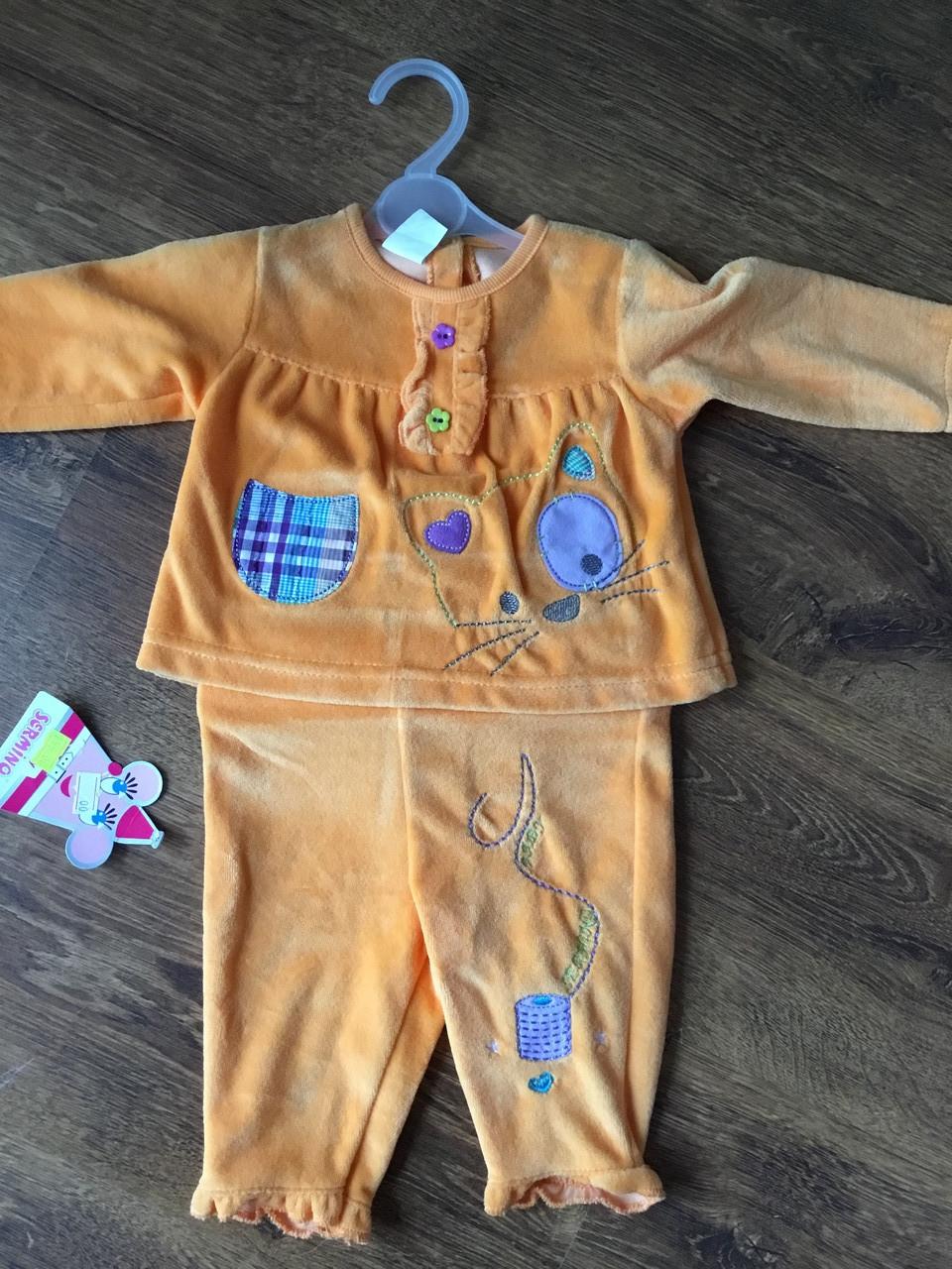 Детский костюм для новорожденного в оранжевом цвете
