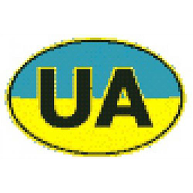 """Наклейка знак """"UA"""" цветная (ОД)"""