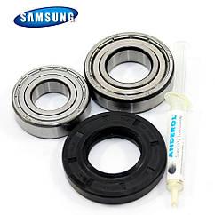 Комплект подшипников и сальник (6205+6206+35-65.55-10/12) для стиральной машины Samsung