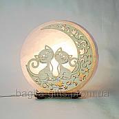 Соляна лампа кругла Коти на 2 місяці
