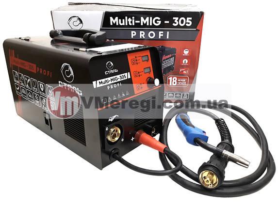 Сталь MULTI-MIG-305 PROFI Сварочный полуавтомат инверторный, фото 2
