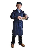 Детский халат для уроков труда с беретом