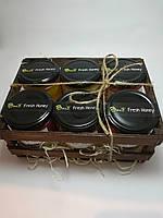 Мужской подарочный набор №1 из 6 баночек меда по 250гр