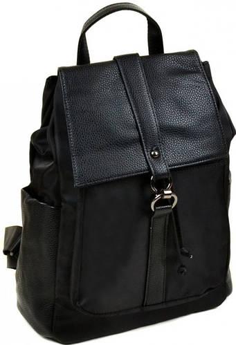 Классический женский рюкзак из нейлона 8762 black, черный