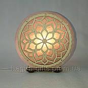 Соляная лампа круглая Узор 62