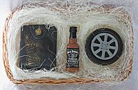 "Мыло ручной работы ""Набор: портмоне, виски Jack Daniels, колесо"""