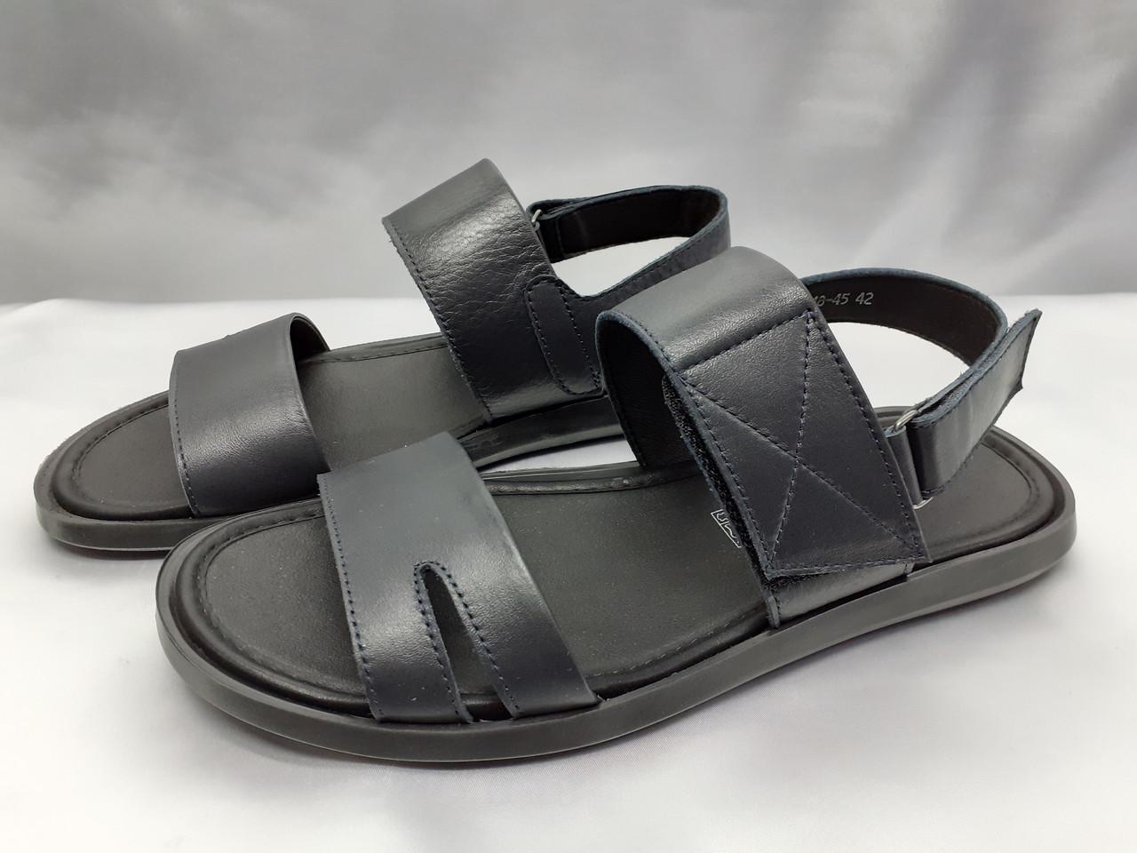 Стильные синие кожаные сандалии Rondo