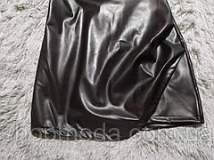 Сексуальное качественное платье женское эко кожа черное. Короткое платье эко кожа., фото 3
