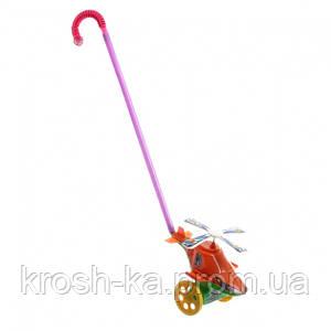 Каталка детская Вертолет на палочке Китай 1803-6