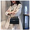 Женская черная сумка с позолотой, фото 3