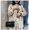Женская черная сумка с позолотой, фото 4
