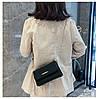 Женская черная сумка с позолотой, фото 5