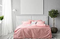 Постельное белье евро Сатин с вышивкой Пчелка розовый Ideia