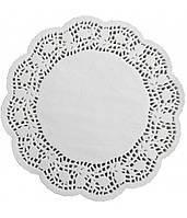 Салфетки бумажные круглые ажурные Ø 267 мм (уп 100 шт) (E0249)