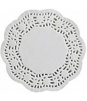 Салфетки бумажные круглые ажурные Ø 100 мм (уп 100 шт) (E0248 )
