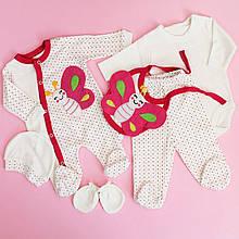 633 Одежда для новорожденных на выписку размер 0-3 мес