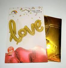 """Шар буквы  фольгированные """"LOVE"""". :золото :70х104 см ( индивидуальная упаковка)"""