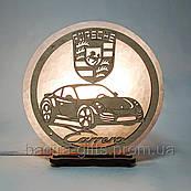 Соляная лампа круглая Porsche