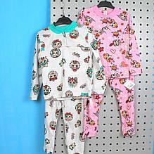 6077-002 Пижама на 2 кнопках для девочки Лол размер 110,116,134