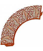 Накладка бумажная декоративная ажурная для маффинов разных цветов (уп 20 шт) (E0363)