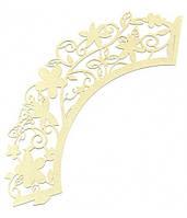 Накладка бумажная декоративная ажурная для маффинов разных цветов (уп 20 шт) (E0371)