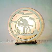 Соляная лампа круглая Джаз