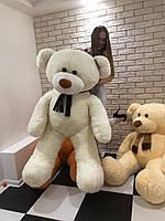 Мишка медведь плюшевый  180 см бежевый , персиковый , серый, белый