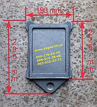 Засувка заслінка шибер пічна чавунне лиття (190х225 мм)
