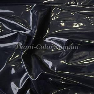 Ткань кожа лакированная латекс темно-синий