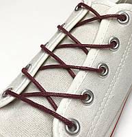 Шнурки с пропиткой круглые бордовый 70 см
