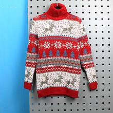 723крас Детский свитер Олени красный тм Cilivili Kids