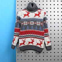 723сер Детский свитер Олени серый тм Cilivili Kids