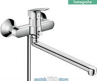 Смеситель для ванны HANSGROHE LOGIS с длинным изливом, хром.