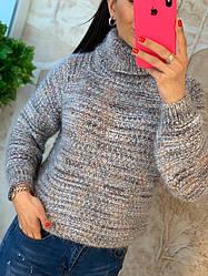 Женский свитер ангоровый свободного кроя
