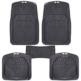 Коврики PVC  КУ-16051 BK 5шт./компл. черные 76x52 52x46 50х23 (КУ-16051 BK)