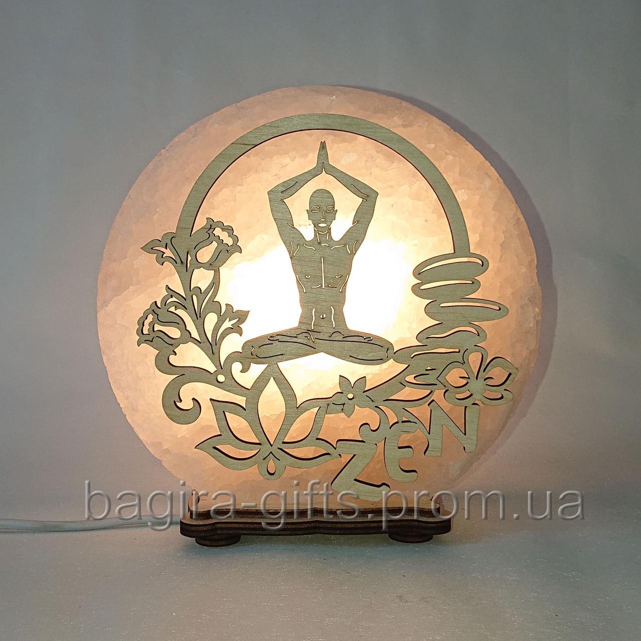 Соляная лампа круглая Зен