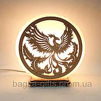 Соляная лампа круглая Феникс