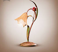 Настольная лампа металлическая, флористика 470