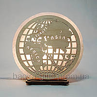 Соляна лампа кругла Глобус