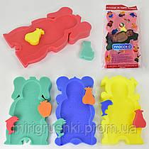 """Коврик поролоновый """"ADIK"""" (62966) 4 цвета, 2 мочалки, в кульке"""