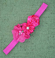 Ozendik Нарядная повязочка на голову  розовый (полиэстер)