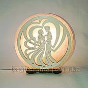 Соляна лампа кругла Пара в серці