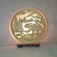 Соляная лампа круглая Медведь в горах, фото 1