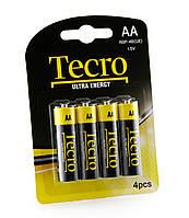 Элементы питания(батарейки) АА Tecro R6P-4B(UE)