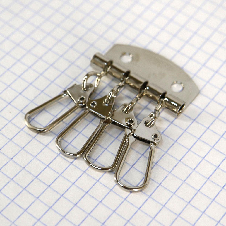 Ключница на 4 ключа никель a5808 (10 шт.)