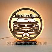 Соляная лампа круглая MercedesBens