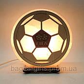 Соляна лампа кругла Футбольний м'яч